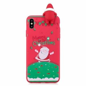 NEW iPhone 7+/8+ Red 3D Santa Case